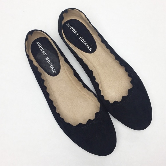 3ad606a4b4ea4 Audrey Brooke Shoes - Audrey Brooke Winny black suede ballet flats